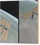 Iss - Gently Cross Your Eyes And Focus On The Middle Image Wood Print