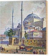 Istanbul Wood Print