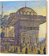 Istanbul Outdoor Bazaar Wood Print