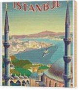 Istanbul Turkey 1939 World Travel Poster Wood Print