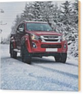 Isuzu In The Snow Wood Print