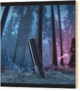 It Calls To You Borders Wood Print