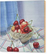 It Is Raining Cherries Wood Print