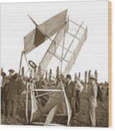 It Was A Good Landing The Pilot Walked Away  Twin Wing Aircraft  Circa 1909 Wood Print