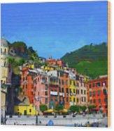 Italian Beachside  Wood Print