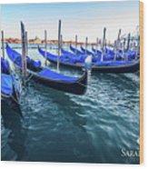 Italian Blue Wood Print
