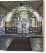 Italian Chapel Interior Wood Print
