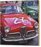Italian Classics Alfa Romeo Wood Print