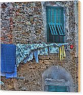 Italian Clothes Dryer Wood Print