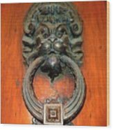 Italian Door Knocker Wood Print by Jen White