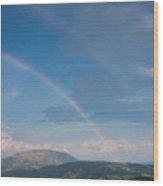 Italian Double Rainbow Wood Print
