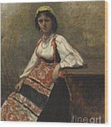 Italian Girl Wood Print