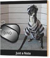 Italian Greyhound Bad Boy Wood Print