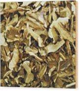 Italian Market Dried Mushrooms Wood Print