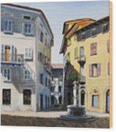 Italian Street Wood Print