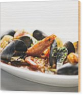 Italian Traditional Seafood Stew  Wood Print