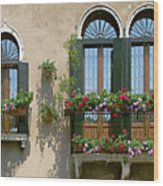 Italian Windows Wood Print