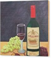 Italian Wine And Fruit Wood Print