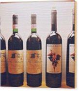 Italian Wines Wood Print