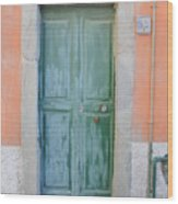 Italy - Door Five Wood Print