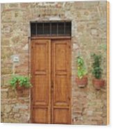 Italy - Door Six Wood Print