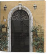 Italy - Door Thirteen Wood Print