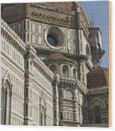 Italy, Florence, Facade Of Duomo Santa Wood Print