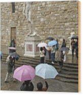 Italy, Florence, Piazza Della Signora Wood Print