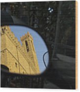 Italy, Florence, Reflection In Mirror Wood Print