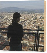 Italy, Florence, Tourist Looks Wood Print