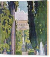 Italy Tivoli Vintage Travel Poster Restored Wood Print