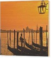 Italy Venice Riva Degli Schiavoni , Canale Grande Riva Degli Sch Wood Print