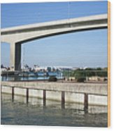 Itchen Bridge Southampton Wood Print