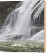Ithaca Falls On Fall Creek - Mountain Showers Wood Print by Christina Rollo