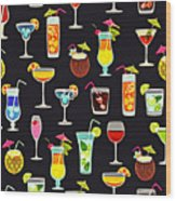 Its 5  Oclock Somewhere Cocktails Wood Print