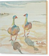 It's A Ducky Day Wood Print