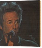 It's Boss Time - Bruce Springsteen Portrait Wood Print
