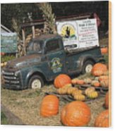 It's Fall At Sunrise Grocery Wood Print