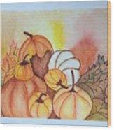 It's Pumpkin Time Wood Print