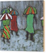 It's Raining It's Pouring Wood Print