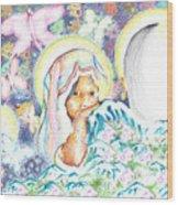 Itzpapalotl Y La Joven Virgin Wood Print
