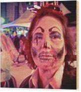 Zombie On Patrol Wood Print