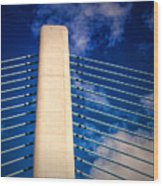 Ivory Tower At Indian River Inlet Wood Print