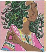 Ivy And Dashiki Wood Print