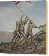 Iwo Jima Wood Print