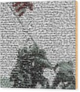 Iwo Jima War Mosaic Wood Print