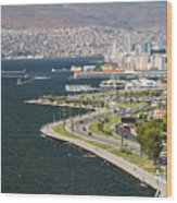 Izmir By The Sea Wood Print