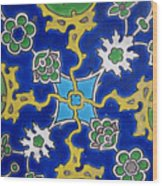 Iznik Tiles In Topkapi Palace Istanbul  Wood Print