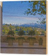 J Paul Getty Center Museum Terrace Wood Print