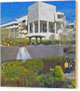 J. Paul Getty Museum Central Garden Panorama Wood Print